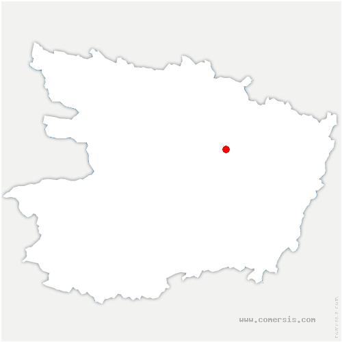 carte de localisation de Cornillé-les-Caves