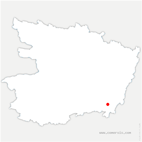carte de localisation de Coudray-Macouard