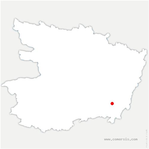 carte de localisation de Courchamps