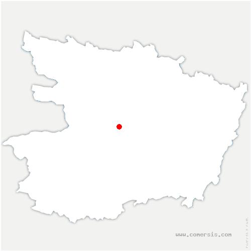 carte de localisation de Denée