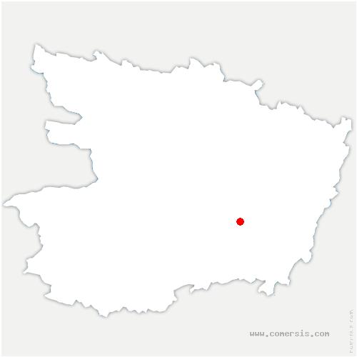 carte de localisation de Dénezé-sous-Doué