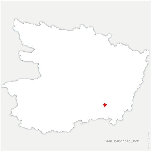 carte de localisation de Doué-en-Anjou