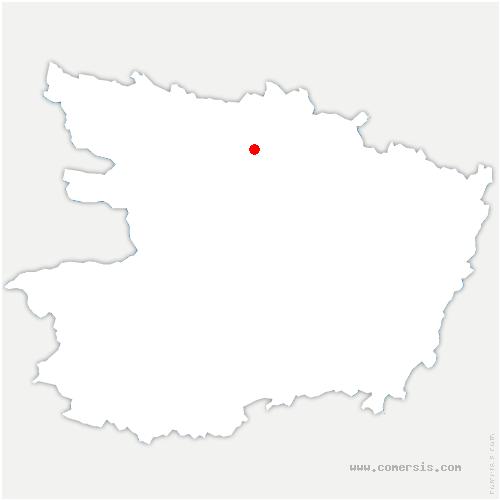carte de localisation de Écuillé