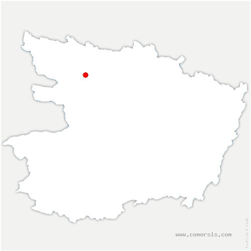 carte de localisation de Erdre-en-Anjou