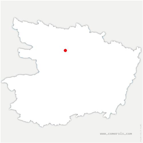 carte de localisation de Feneu