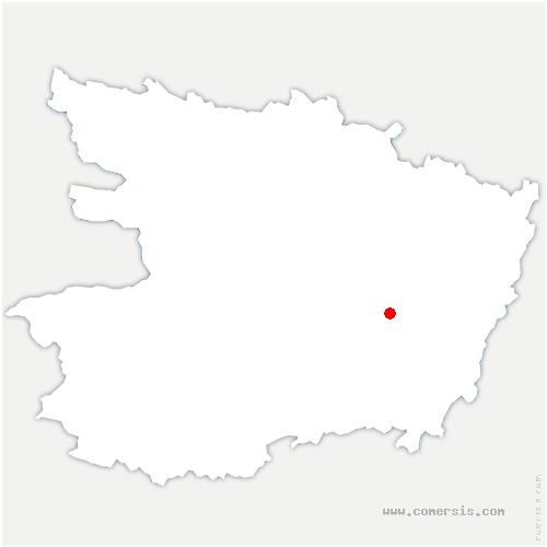 carte de localisation de Gennes-Val-de-Loire