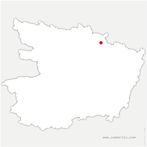 carte de localisation de Huillé-Lézigné