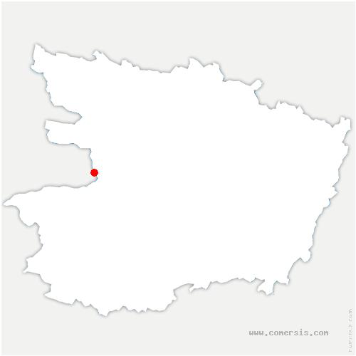 carte de localisation de Ingrandes-le-Fresne-sur-Loire