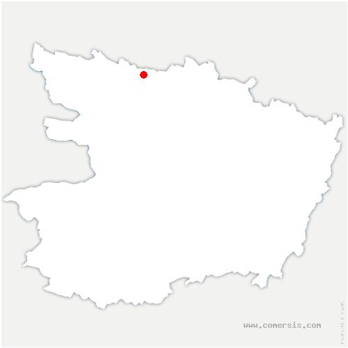 carte de localisation de Jaille-Yvon