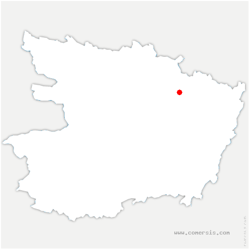 carte de localisation de Jarzé-Villages