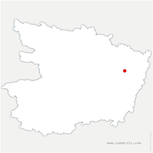 carte de localisation de Lande-Chasles