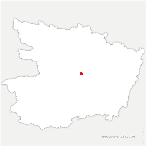 carte de localisation de Les Garennes sur Loire