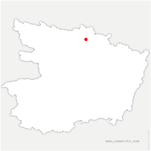 carte de localisation de Les Hauts-d'Anjou