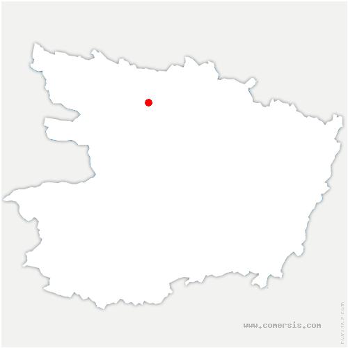 carte de localisation de Lion-d'Angers