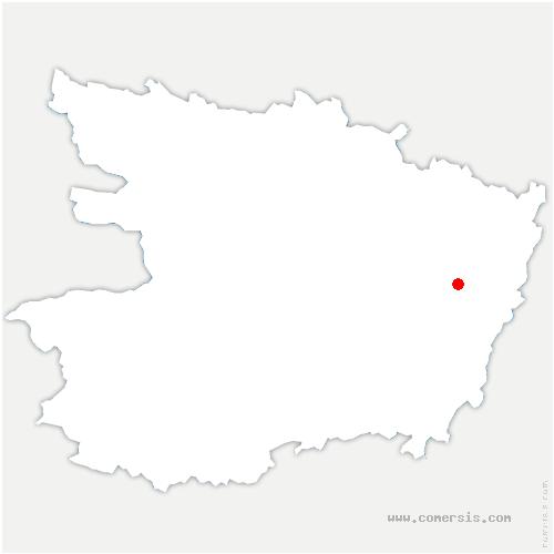 carte de localisation de Longué-Jumelles