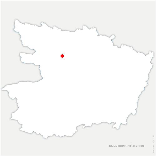 carte de localisation de Longuenée-en-Anjou