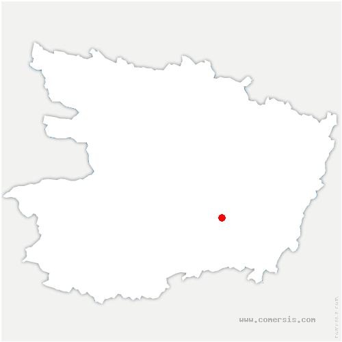 carte de localisation de Louresse-Rochemenier