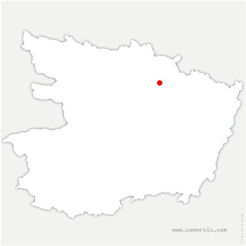 carte de localisation de Marcé