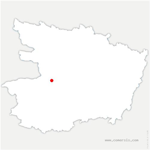 carte de localisation de Mauges-sur-Loire