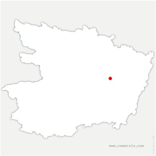 carte de localisation de Ménitré
