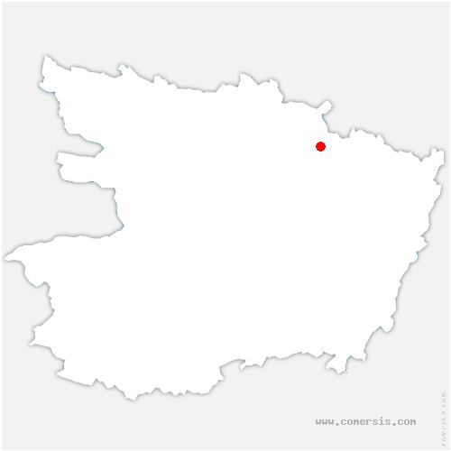 carte de localisation de Montigné-lès-Rairies