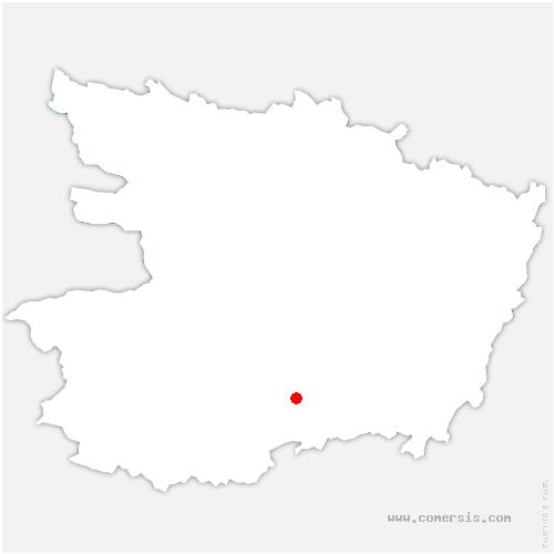carte de localisation de Montilliers