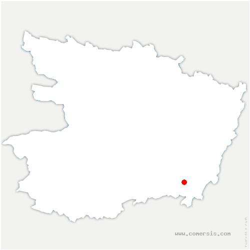 carte de localisation de Montreuil-Bellay