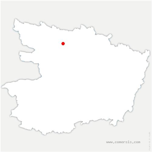 carte de localisation de Montreuil-sur-Maine