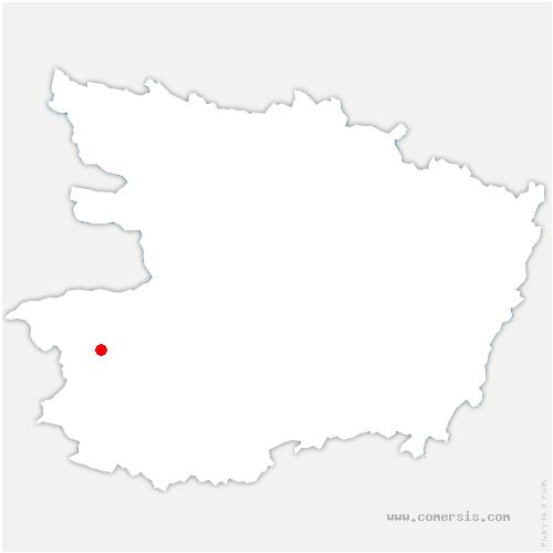 carte de localisation de Montrevault-sur-Èvre