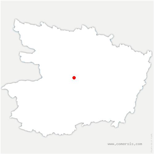 carte de localisation de Mozé-sur-Louet