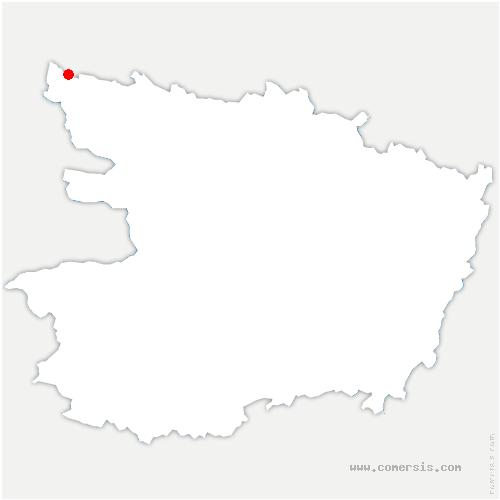 carte de localisation de Ombrée d'Anjou