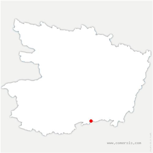 carte de localisation de Passavant-sur-Layon