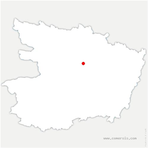 carte de localisation de Plessis-Grammoire