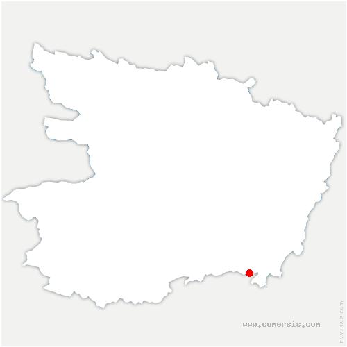 carte de localisation de Puy-Notre-Dame