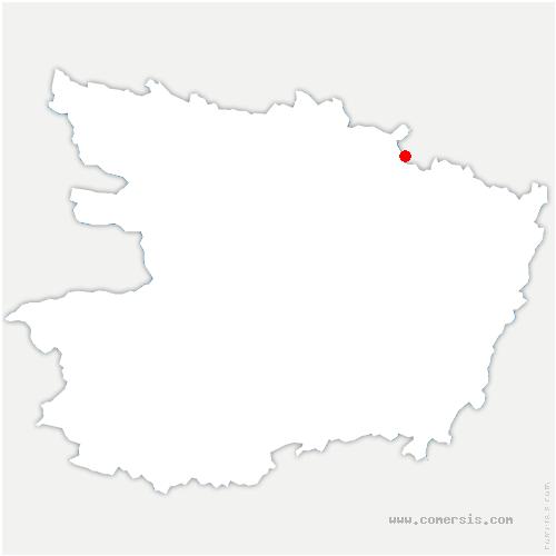 carte de localisation de Rairies