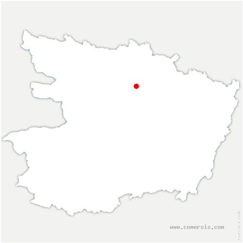carte de localisation de Rives-du-Loir-en-Anjou