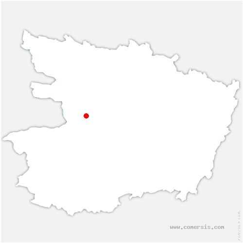 carte de localisation de Saint-Augustin-des-Bois