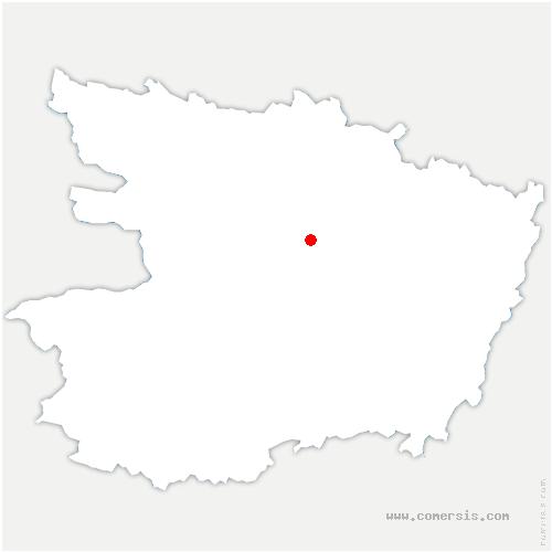 carte de localisation de Saint-Barthélemy-d'Anjou