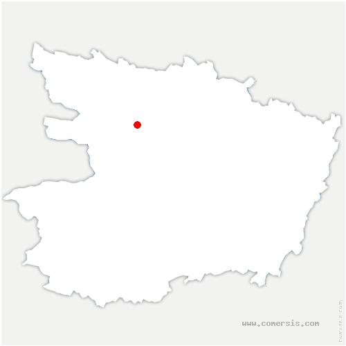 carte de localisation de Saint-Clément-de-la-Place