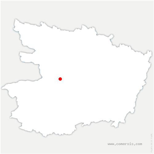 carte de localisation de Saint-Georges-sur-Loire