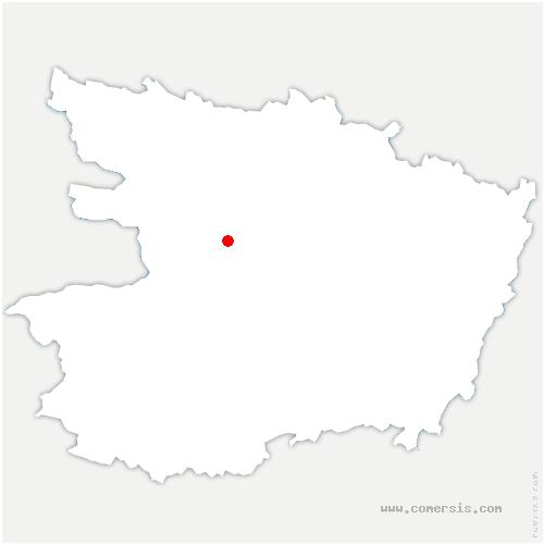 carte de localisation de Saint-Lambert-la-Potherie