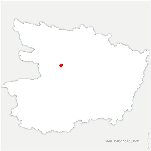 carte de localisation de Saint-Léger-de-Linières