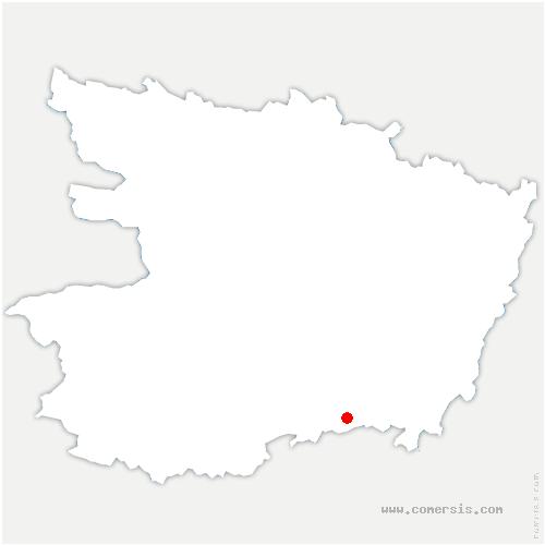 carte de localisation de Saint-Macaire-du-Bois