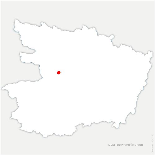 carte de localisation de Saint-Martin-du-Fouilloux