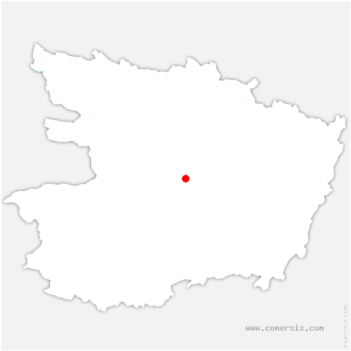 carte de localisation de Saint-Melaine-sur-Aubance