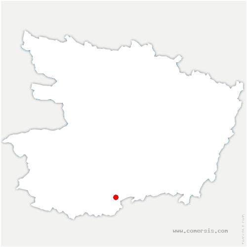 carte de localisation de Saint-Paul-du-Bois
