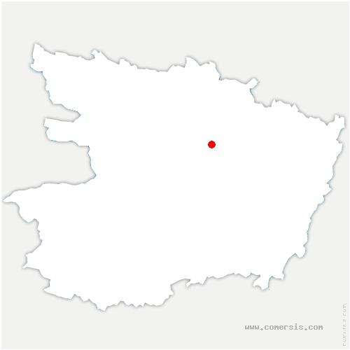 carte de localisation de Sarrigné
