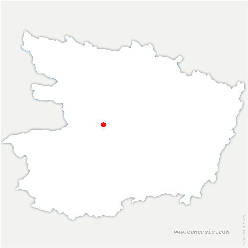 carte de localisation de Savennières