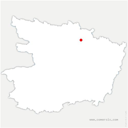 carte de localisation de Seiches-sur-le-Loir