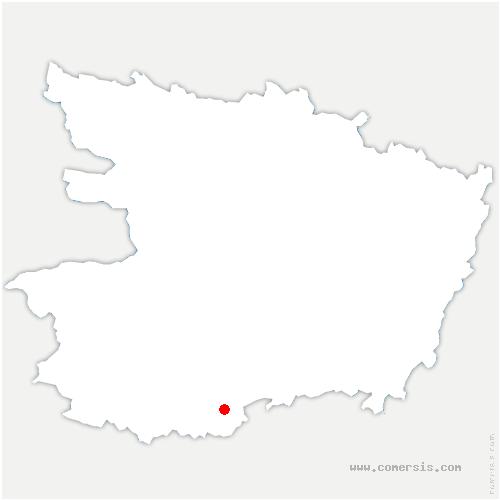 carte de localisation de Somloire